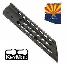 "10"" ULTRA LIGHTWEIGHT THIN KEY MOD FREE FLOATING HANDGUARD WITH SLANT NOSE"