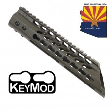 "10"" ULTRA LIGHTWEIGHT THIN KEY MOD FREE FLOATING HANDGUARD WITH SLANT NOSE (O.D.GREEN)"