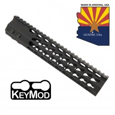 "10"" ULTRA SLIMLINE OCTAGONAL 5 SIDED KEY MOD FREE FLOATING HANDGUARD WITH MONOLITHIC TOP RAIL"