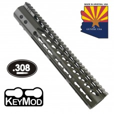 "12"" ULTRA LIGHTWEIGHT THIN KEY MOD FREE FLOATING HANDGUARD WITH MONOLITHIC TOP RAIL (.308 CAL)(O.D. GREEN)"