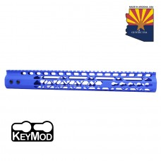 "15"" AIR LITE KEYMOD FREE FLOATING HANDGUARD WITH MONOLITHIC TOP RAIL (BLUE)"