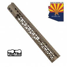 "15"" AIR LITE KEYMOD FREE FLOATING HANDGUARD WITH MONOLITHIC TOP RAIL (FLAT DARK EARTH)"