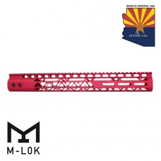 "15"" AIR LITE SERIES M-LOK FREE FLOATING HANDGUARD WITH MONOLITHIC TOP RAIL (RED)"
