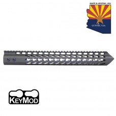 "15"" ""TRIDENT"" SERIES ULTRA LIGHTWEIGHT THIN KEY MOD FREE FLOATING HANDGUARD (OD GREEN)"