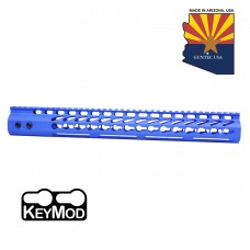 "15"" ULTRA LIGHTWEIGHT THIN KEY MOD FREE FLOATING HANDGUARD WITH MONOLITHIC TOP RAIL (BLUE)"