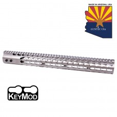 "15"" ULTRA LIGHTWEIGHT THIN KEY MOD FREE FLOATING HANDGUARD WITH MONOLITHIC TOP RAIL (NICKEL)"