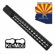 "15"" ULTRA SLIMLINE OCTAGONAL 5 SIDED KEY MOD FREE FLOATING HANDGUARD WITH MONOLITHIC TOP RAIL"