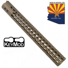 "16.5"" ULTRA LIGHTWEIGHT THIN KEY MOD FREE FLOATING HANDGUARD WITH MONOLITHIC TOP RAIL (FLAT DARK EARTH)"