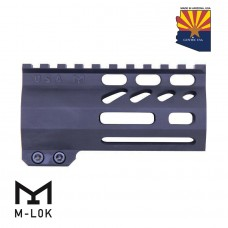"""4"""" AIR-LOK SERIES M-LOK COMPRESSION FREE FLOATING HANDGUARD WITH MONOLITHIC TOP RAIL"""