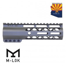 "7"" AIR-LOK SERIES M-LOK COMPRESSION FREE FLOATING HANDGUARD WITH MONOLITHIC TOP RAIL (OD GREEN)"
