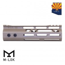 "7"" MOD LITE SKELETONIZED SERIES M-LOK FREE FLOATING HANDGUARD WITH MONOLITHIC TOP RAIL (FLAT DARK EARTH)"