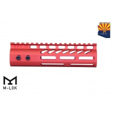 "7"" ULTRA LIGHTWEIGHT THIN M-LOK FREE FLOATING HANDGUARD WITH MONOLITHIC TOP RAIL (RED)"