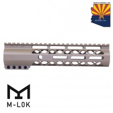 "9"" AIR-LOK SERIES M-LOK COMPRESSION FREE FLOATING HANDGUARD WITH MONOLITHIC TOP RAIL (FLAT DARK EARTH)"