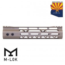 "9"" MOD LITE SKELETONIZED SERIES M-LOK FREE FLOATING HANDGUARD WITH MONOLITHIC TOP RAIL (FLAT DARK EARTH)"