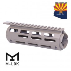 "AR-15 7"" ALUMINUM CARBINE LENGTH DROP IN M-LOK FREE FLOATING HANDGUARD WITH MONOLITHIC TOP RAIL (FLAT DARK EARTH)"