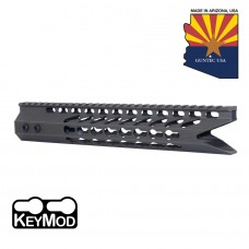 "11.5"" ULTRA SLIMLINE OCTAGONAL 5 SIDED KEY MOD FREE FLOATING HANDGUARD WITH ""SHARK MOUTH"" CUT (OD GREEN)"