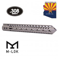 "15"" ""TRIDENT"" SERIES ULTRA LIGHTWEIGHT THIN M-LOK FREE FLOATING HANDGUARD (.308 CAL) (FLAT DARK EARTH)"