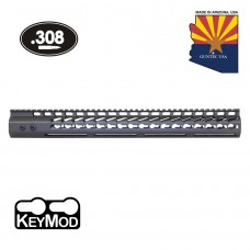 "16.5"" ULTRA LIGHTWEIGHT THIN KEY MOD FREE FLOATING HANDGUARD WITH MONOLITHIC TOP RAIL (.308 CAL)(OD GREEN)"
