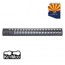 "16.5"" ULTRA LIGHTWEIGHT THIN KEY MOD FREE FLOATING HANDGUARD WITH MONOLITHIC TOP RAIL (OD GREEN)"