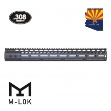 "16.5"" ULTRA LIGHTWEIGHT THIN M-LOK FREE FLOATING HANDGUARD WITH MONOLITHIC TOP RAIL (.308 CAL)(OD GREEN)"