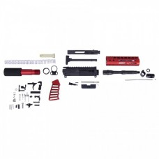 AR-15 5.56 CAL COMPLETE ULTRALIGHT SERIES PISTOL KIT (NO LOWER) (RED)