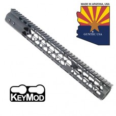 "15"" AIR LITE KEYMOD FREE FLOATING HANDGUARD WITH MONOLITHIC TOP RAIL"
