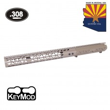 "AR .308 CAL AIRLITE SERIES STRIPPED BILLET UPPER RECEIVER & 15"" AIR LITE SERIES KEYMOD HANDGUARD COMBO SET (FLAT DARK EARTH)"