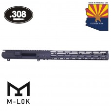 "AR .308 CAL STRIPPED BILLET UPPER RECEIVER & 15"" MOD LITE SKELETONIZED SERIES M-LOK HANDGUARD COMBO SET"