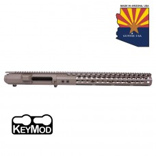 "AR .308 CAL STRIPPED BILLET UPPER RECEIVER & 15"" ULTRALIGHT SERIES KEYMOD HANDGUARD COMBO SET (FLAT DARK EARTH)"