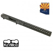 "AR .308 CAL STRIPPED BILLET UPPER RECEIVER & 15"" ULTRALIGHT SERIES KEYMOD HANDGUARD COMBO SET (O.D. GREEN)"