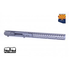 "AR .308 CAL STRIPPED BILLET UPPER RECEIVER & 15"" ULTRALIGHT SERIES KEYMOD HANDGUARD COMBO SET (SNIPER GREY)"