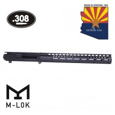 "AR .308 CAL STRIPPED BILLET UPPER RECEIVER & 15"" ULTRALIGHT SERIES M-LOK HANDGUARD COMBO SET"
