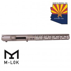 "AR .308 CAL STRIPPED BILLET UPPER RECEIVER & 15"" ULTRALIGHT SERIES M-LOK HANDGUARD COMBO SET (FLAT DARK EARTH)"