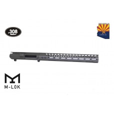 "AR .308 CAL STRIPPED BILLET UPPER RECEIVER & 15"" ULTRALIGHT SERIES M-LOK HANDGUARD COMBO SET (O.D. GREEN)"