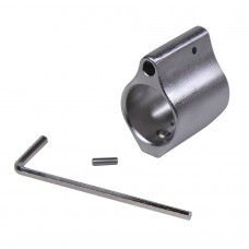AR15 MATTE STAINLESS STEEL LOW PROFILE GAS BLOCK