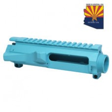 AR15 STRIPPED BILLET UPPER RECEIVER (BABY BLUE)