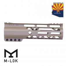 "GEN 2 7"" AIR-LOK SERIES M-LOK COMPRESSION FREE FLOATING HANDGUARD WITH MONOLITHIC TOP RAIL (FLAT DARK EARTH)"