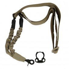 ONE POINT BUNGEE SLING WITH QD SNAP HOOK & QD AMBI BOLT ON SLING ADAPTER COMBO KIT (TAN)