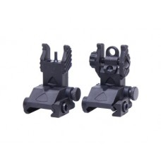 "AR-15 ""EZ SIGHTS"" THIN PROFILE POLYMER BACK UP IRON SIGHT SET"