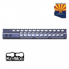 "12"" ULTRA LIGHTWEIGHT THIN KEY MOD FREE FLOATING HANDGUARD WITH MONOLITHIC TOP RAIL (SNIPER GREY)"