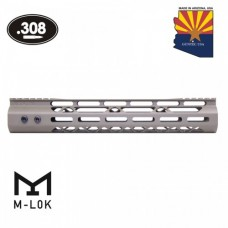"12"" MOD LITE SKELETONIZED SERIES M-LOK FREE FLOATING HANDGUARD WITH MONOLITHIC TOP RAIL (.308 CAL) (FLAT DARK EARTH)"