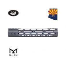 "12"" MOD LITE SKELETONIZED SERIES M-LOK FREE FLOATING HANDGUARD WITH MONOLITHIC TOP RAIL (.308 CAL) (OD GREEN)"