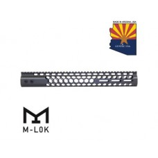 """15"""" AIR LITE SERIES """"HONEYCOMB"""" M-LOK FREE FLOATING HANDGUARD WITH MONOLITHIC TOP RAIL (OD GREEN)"""