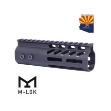 "6"" ULTRA LIGHTWEIGHT THIN M-LOK FREE FLOATING HANDGUARD WITH MONOLITHIC TOP RAIL"