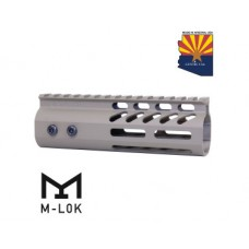 "6"" ULTRA LIGHTWEIGHT THIN M-LOK FREE FLOATING HANDGUARD WITH MONOLITHIC TOP RAIL (FLAT DARK EARTH)"